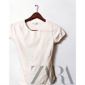 Zara w&b collection capped sleeve tee